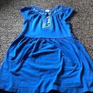 Blue and white toddler sundress